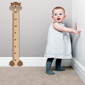 Otroška nalepka Merilni trak bober